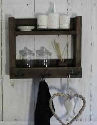 badregal hängeregal badezimmer bad regal holz braun handtuch