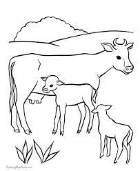 30 Cow Coloring Pages Farm Animals