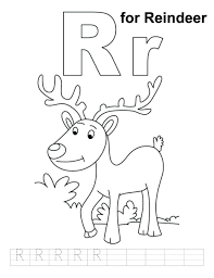Coloring Pages Rudolph Of Reindeer Flying Online Free Alphabet