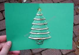 Easy Christmas Tree Pop Up Card