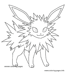 Coloring Pages Eevee Sheets Inspiring To Print Large Size Best Images On For