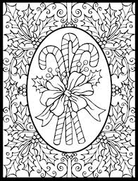 Difficult Christmas Coloring Page With Pages In Printable For Inside Free Adults