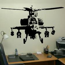 Wall Mural Decals Vinyl by Xtra Large Banksy Helicopter Wall Art Bedroom Mural Giant Sticker