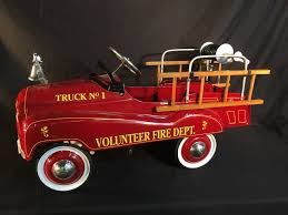 100 Antique Fire Truck Pedal Car Vintage Volunteer Dept No 1