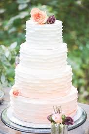 Peach And White Ombre Wedding Cake Ombrewedding L Eventsbyclassic