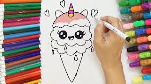 How To Draw A Cute Unicorn Ice Cream
