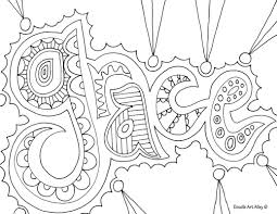 Word Coloring Pages For Pages With Words