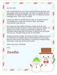 Free Santa Letter Templates Downloads