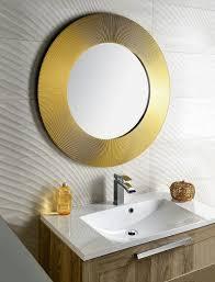 sunbeam kulaté zrcadlo v rámu pr 90cm zlatá sapho e shop