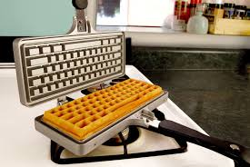 Gad Grrl Keyboard waffle iron beehive candle cyberpower
