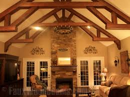 Living Room Makeovers Diy by Diy Living Room Makeovers With Beams Faux Wood Workshop