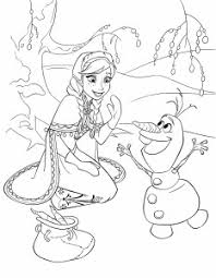 Frozen Coloring Page Anna Olaf 233x300