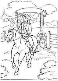 Bucking Bronco Coloring Page