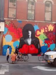 joe strummer mural picture of rock junket new york city