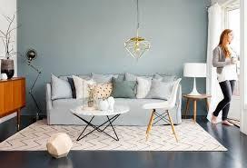 canap bleu clair peinture murale et combinaisons couleurs intérieur moderne