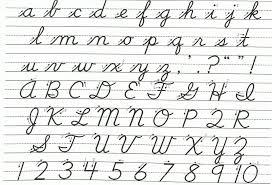 Capital Cursive Letters