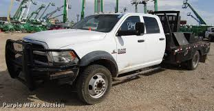 100 2014 Dodge Pickup Trucks Ram 5500 Crew Cab Flatbed Truck Item DD4409 S