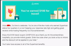 How To Receive Superhost Benefits? - Airbnb Community Ill Give You 40 To Use Airbnb Aowanders Superhost Voucher Community Get A Coupon Code 25 Coupon How Make 5000 Usd In Travel Credits New 37 Off 73 Code First Booking Get 35 Airbnb For Your Time User Deals Bay Area 74 85 Travel Credit Bartla 5 Reasons Why You Should Try And 2015 Free Credit