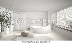 modernes klassisches badezimmer mit großem runden teppich