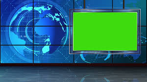 News 09 Broadcast Tv Studio Green Screen Background Loopable Motion