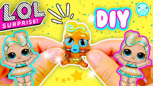 DIY LUXE Lol Surprise Dolls Custom Lil Sister Tutorial Glitter NEW Series 4 Doll