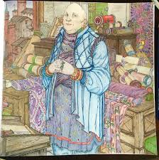 Just Finished Varys From The Game Of Thrones Coloring Book Using Caran DAche Pablo