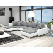 canapé simili cuir gris meublesline canapé d angle dante 6 places tissu et simili cuir