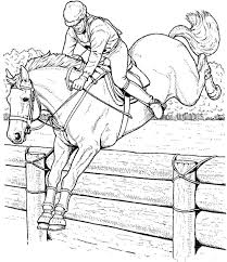 Sumptuous Design Horse Jumping Coloring Pages Printable 21 3883
