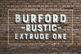 Burford Rustic Extrude One