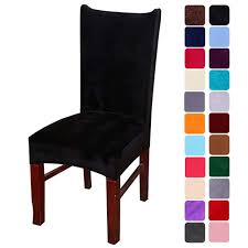 Amazon.com: Smiry Velvet Stretch Dining Room Chair Covers ... Us 701 45 Offnew Spandex Stretch Ding Chair Cover Machine Washable Restaurant Wedding Banquet Folding Hotel Zebra Stripped Chairs Covergin Yisun Coverssolid Pu Leather Waterproof And Oilproof Protector Slipcover Black 4 Pack 100 Room Navy Blue And White Unique Bargains Removable Short Slipcovers Nanpiperhome Elegant Elastic Universal Home Decor Searching Perfect Check Search Faux By Surefit Classic Cabana Stripe Long Covers Set Of 2 Ltplaza Modern Seat 4pcsset Damask Operi