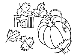 Fancy Design Autumn Printable Coloring Pages Fall