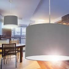 details zu hängeleuchte schirm wohn zimmer le pendelle esszimmer leuchten stoff grau