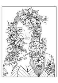 Well Suited Design Black Coloring Books Adult Pages Punk Girl 3