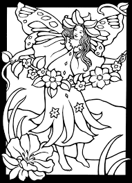 Fairy Coloring Page From Magic Garden Fairies Stained Glass Book Dover Publications
