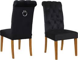 schwarz samt esszimmerstühle kaufen möbel