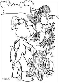 Wolf Blows Down Wood House Coloring Page