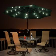 Solar Led Patio Umbrella by Endearing Lighted Patio Umbrella Trademark Innovations Rectangular
