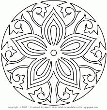Easy Mandala Coloring Pages Az With Regard To Simple