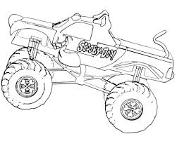 100 Monster Truck Coloring Scooby Doo Pages Great Free Clipart