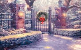 Thomas Kinkade Christmas Tree Train by Thomas Kinkade Christmas Wallpapers U2013 Happy Holidays