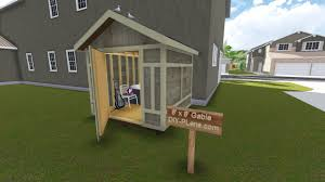 Free Shed Plans 8x8 Online by 8x8 Gable Tool Shed Plan