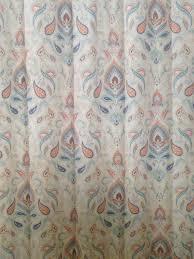Cynthia Rowley Jacobean Floral Curtains by Cynthia Rowley Orange Paisley Shower Curtain U2022 Shower Curtain Design