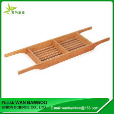 Bamboo Bathtub Caddy With Wine Glass Holder by Personalized Bamboo Bathtub Caddy With Ipad Phone And Wine Glass