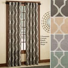 Interior Design Elegant Medalia 2 Grommet Geometric Curtain Panels For Living Room