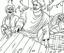 Sermons4kids Coloring Pages 20 Jesus Cleansing The Temple Page