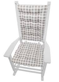 Classic Check Taupe Plaid Rocking Chair Cushions My Favorite Finds Rocking Chairs Down Time Exciting Rattan Wicker Chair Cushions Agreeable Fniture Rural Grey Wooden Single Rocking Chair Departments Diy At Bq Outdoor A L Hickory 7 Slat Rocker In 2019 Handsome Green Tweed Cushion Latex Foam Rustic American Sedona Lowes For Inspiring Antique Classic Check Taupe Plaid Standish Darek La Lune Collection Belham Living Raeburn Rope And Wood Walmartcom