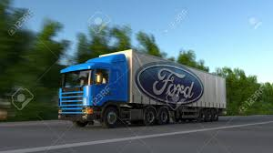 Freight Semi Truck With Ford Motor Company Logo Driving Along ... Nizhny Novgorod Russia July 26 2014 White Semitrailer Truck Fs2015 Ford L9000 Semi Dyeable Truck Ford Defender Bumpers Cs Diesel Beardsley Mn File1948 F6 Cabover Coe Semi Tractor 02jpg Wikimedia Fatal Accident In Katy Sparks Driver Drug Alcohol Tests Jumps The Electric Bandwagon With New Fvision Salo Finland June 14 Yellow Cargo 1830 Trailer Trucks Wicks 2 Locations Serving Nebraska Tamiya 114 Aeromax Horizon Hobby