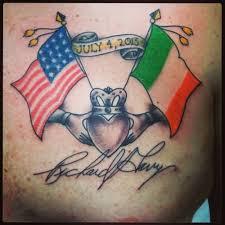 Irish Usa 4 July Awesome International Flag Tattoo