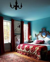 light blue and bedroom home design