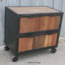 Buy A Hand Crafted Vintage Industrial File Cabinet Reclaimed Wood Rustic Filing Dresser Made To Order From Combine 9